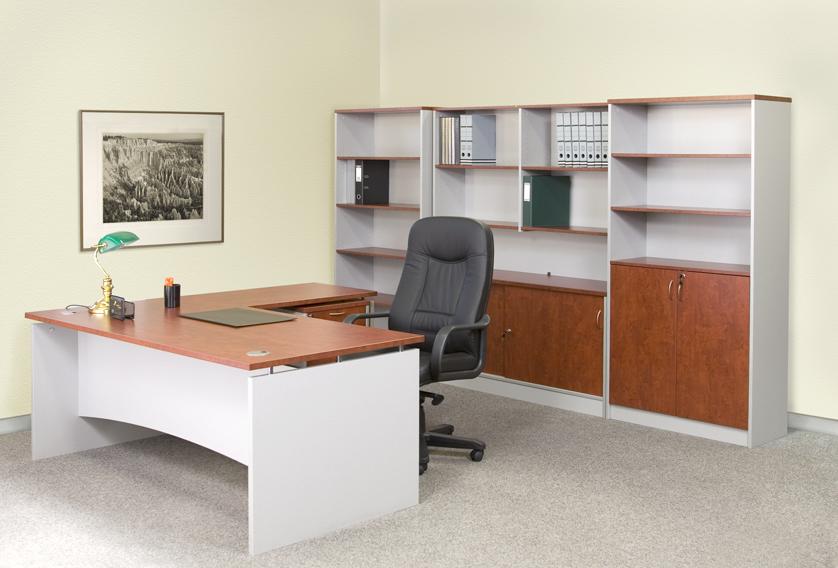 Качественная офисная мебель недорого Предлагаемая в нашем интернет - ресурсе офисная мебель — это разнообразные модели столов, кресел и стульев, шкафов и диванов, стоек - ресепшн, цена которых идеально соответствует их качеству. Достаточно дешевы комплекты офисной мебели для сотрудников и в кабинеты руководителей собственного производства. Офисные шкафы, столы и стулья эконом-класса изготавливаются из современных мебельных материалов — ламинированной ДСП, МДФ, оснащаются ножками и фурнитурой из металла; недорогие офисные шкафы купе и гардеробные имеют двери купе из качественного алюминиевого профиля. В дизайне этой мебели присутствуют самые актуальные тенденции современной офисной моды. Поэтому она будет отлично смотреться в офисе любой молодой организации. Образцы изготовленной нашим производством офисной мебели премиум-класса отличаются действительно высокой стоимостью. При их создании используются материалы только самого лучшего качества: столы и шкафы изготавливаются из натурального дерева ценных пород, элегантная офисная мебель имеет экологически чистые материалы и качественную фурнитуру. Обставленные такой мебелью офисы всегда отличаются солидностью и респектабельностью.
